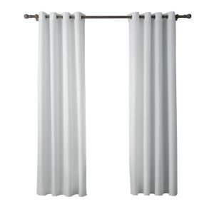 Modern Simple White Curtain Solid Color Finished Curtains 7 Sizes Available