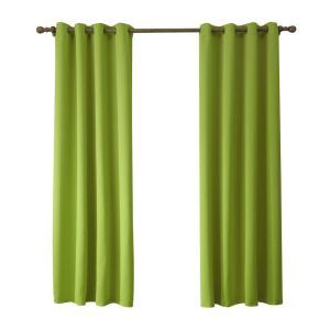 Modern Simple Yellow Green Blackout Curtains Finished Curtains 7 Sizes Available