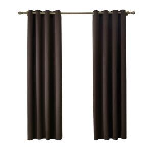 Modern Simple Coffee Blackout Curtains Finished Curtains 7 Sizes Available