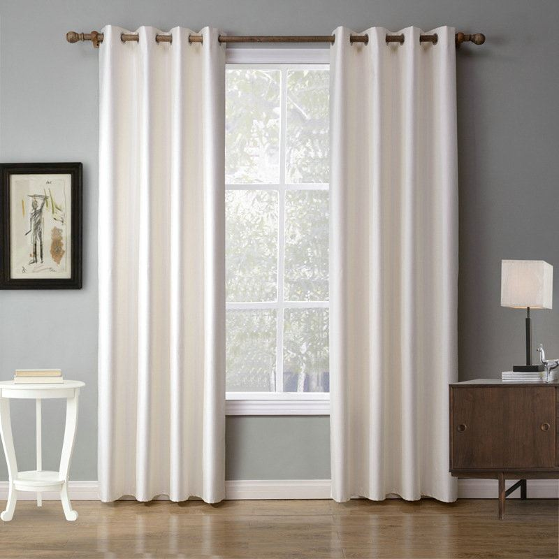 Modern Simple Beige Blackout Curtains Finished Curtains 7