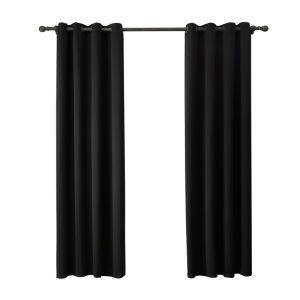 Modern Simple Black Blackout Curtains Finished Curtains 7 Sizes Available