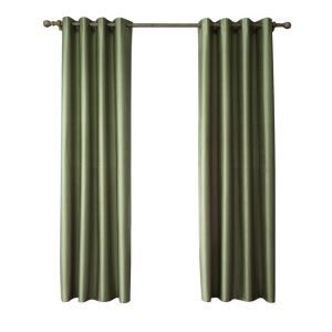 Modern Simple Faux-Silk Doupion Fabric Grass Green Curtain Solid Color Finished Curtains 7 Sizes Available