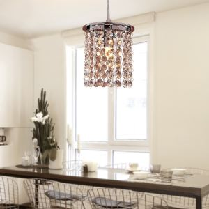 40W Modern Crystal Pendant Light Simple Style