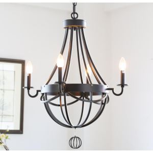 American Country Style Antique Wrought Iron Paint Chandelier without Lamp Shade