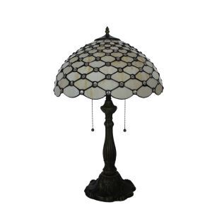 16inch European Retro Style Table Lamp Scale Pattern Glass Shade Bedroom Living Room Dining Room Lights
