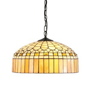 16inch European Pastoral Retro Style Pendant Lights Crystal Palace Top Shape Glass Shade Bedroom Living Room Dining Room Kitchen Lights