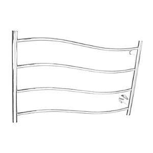 60W Wall Mount Mirror Polished Finish Streamline Circular Tube Towel warmer Drying Rack