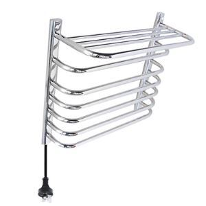 65W Wall Mount Mirror Finish Circular Tube Towel warmer Drying Rack
