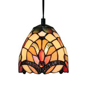 6inch European Pastoral Retro Style Pendant Light Multicolor Pattern Shade Bedroom Living Room Dining Room Kitchen Lights