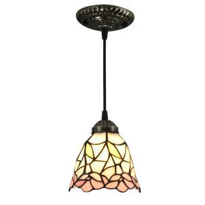 6inch European Pastoral Retro Style Pendant Light Pink Flower Pattern Shade Bedroom Living Room Dining Room Kitchen Lights