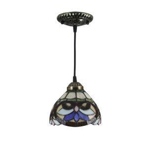 6inch European Pastoral Retro Style Pendant Light Multicolor Pattern Shade Bedroom Living Room Dining Room Kitchen Lights