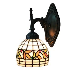 6inch European Pastoral Retro Style Wall Light Multicolor Pattern Round Shade Living Room Dining Room Kitchen Lights