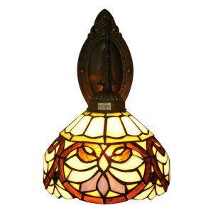 6inch European Pastoral Retro Style Wall Light Multicolor Pattern Shade Living Room Dining Room Kitchen Lights