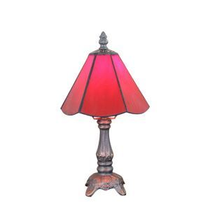 6inch European Pastoral Retro Style Table Lamp Red Lamp Shade Bedroom Living Room Dining Room Lights