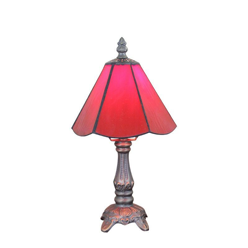 6inch european pastoral retro style table lamp red lamp for Living room lamp shades
