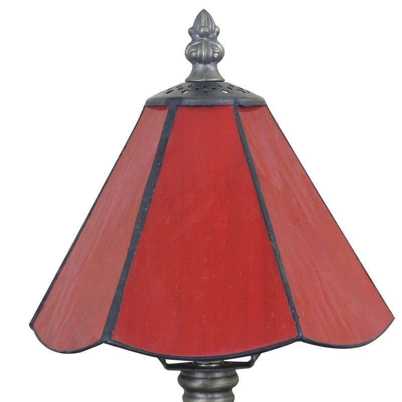 6inch European Pastoral Retro Style Table Lamp Red Lamp