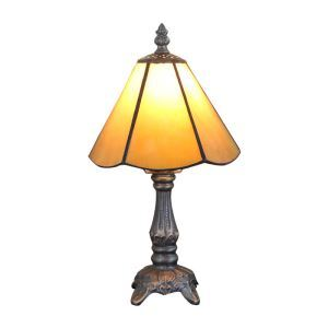 6inch European Pastoral Retro Style Table Lamp Yellow Lamp Shade Bedroom Living Room Dining Room Lights