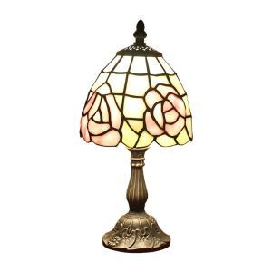 6inch European Pastoral Retro Style Table Lamp Pink Flower Lamp Shade Bedroom Living Room Dining Room Lights