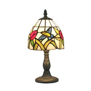 6inch European Pastoral Retro Style Table Lamp Hummingbird and Flower Pattern Lamp Shade Bedroom Living Room Dining Room Lights