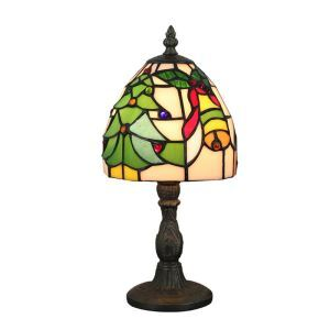 6inch European Pastoral Retro Style Table Lamp Colorful Pattern Lamp Shade Bedroom Living Room Dining Room Lights