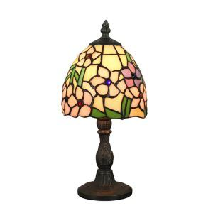 6inch European Pastoral Retro Style Table Lamp Colorful Flower Lamp Shade Bedroom Living Room Dining Room Lights