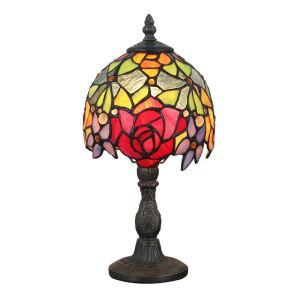 6inch European Pastoral Retro Style Table Lamp Colorful Flower Pattern Lamp Shade Bedroom Living Room Dining Room Lights