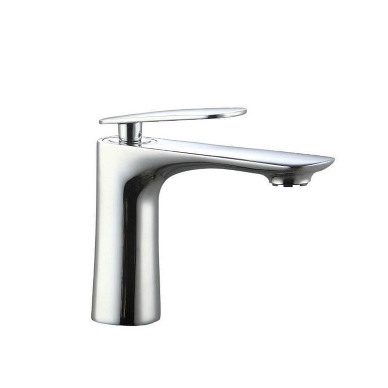 Modern Simple Style Bathroom Chrome Plating Sink Faucet