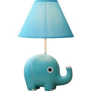 Modern Simple Cartoon Little Elephant Shape Table Lamp Linen Shade