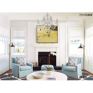 Elegant formal transitional living room