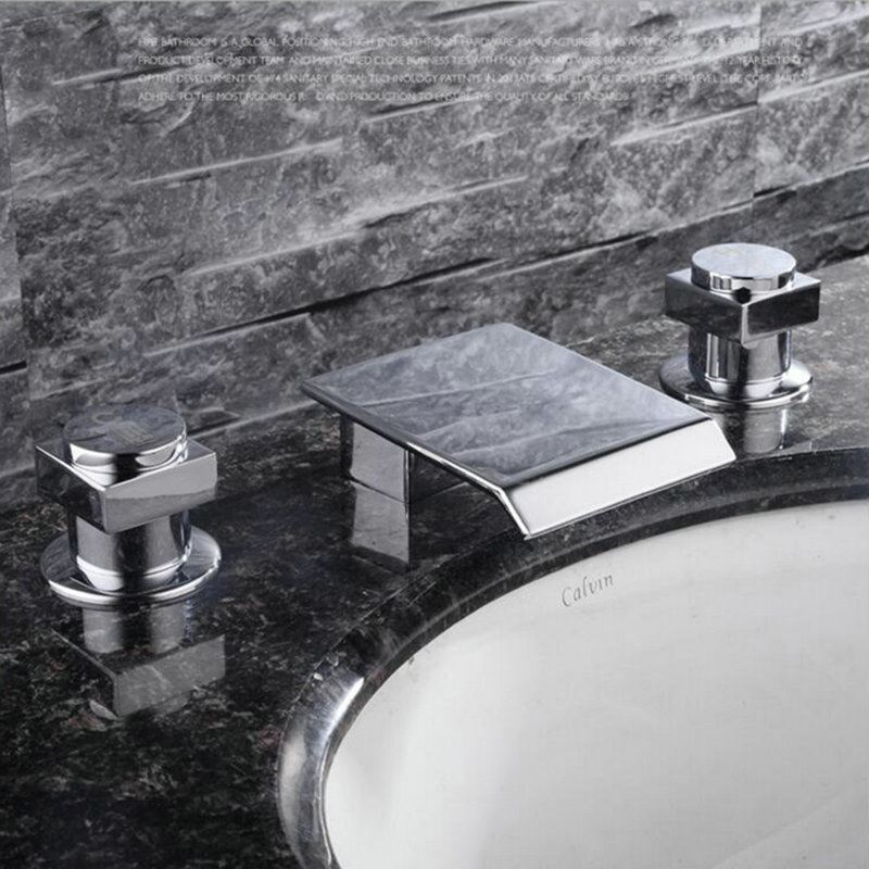 Modern Simple Style Chrome Plating Bathroom Sink Faucet Deck ...
