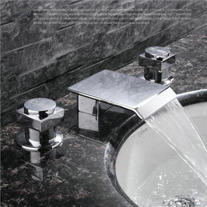 Modern Simple Style Chrome Plating Bathroom Sink Faucet Deck ...