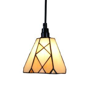 6inch European Pastoral Retro Style Pendant Light Diamond Pattern Shade Bedroom Living Room Dining Room Kitchen Lights
