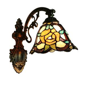 8inch European Pastoral Retro Style Wall Light Flower Pattern Shade Bedroom Living Room Dining Room Kitchen Lights