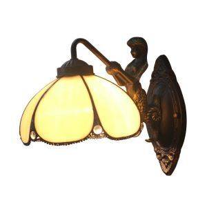 8inch European Pastoral Retro Style Wall Light Mermaid Carrying Lantern Modeling Base Bedroom Living Room Dining Room Kitchen Lights