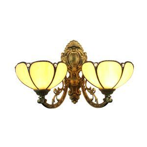 8inch European Pastoral Retro Style Wall Light Light Yellow 2 Lights Bedroom Living Room Dining Room Kitchen Lights