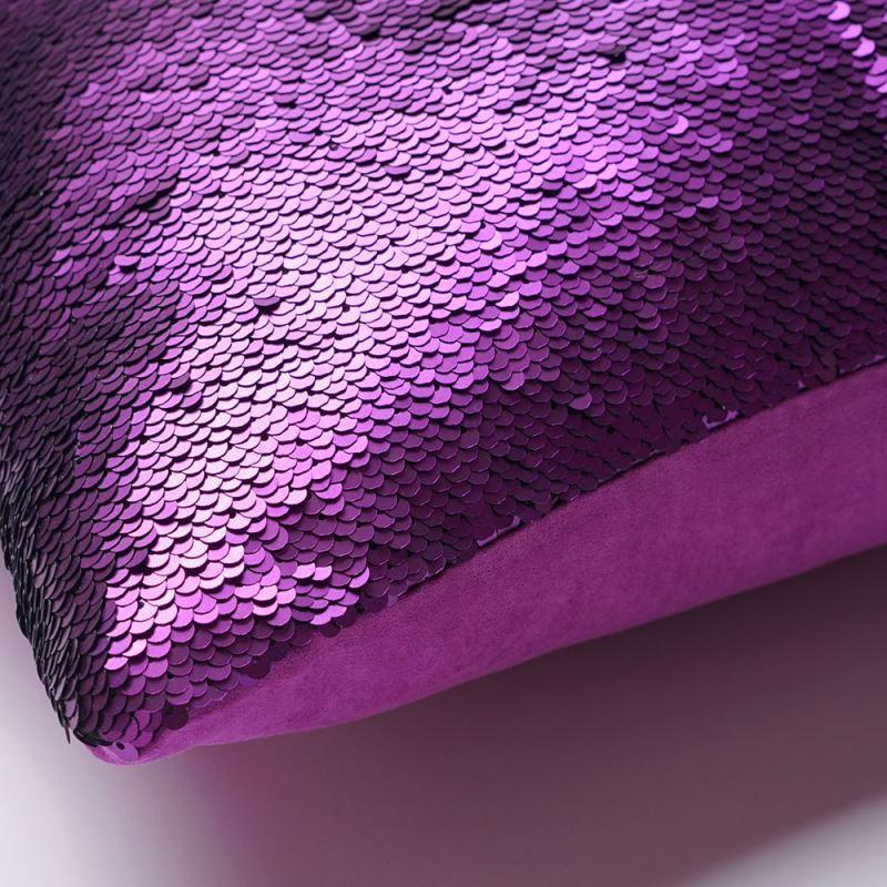 Mermaid Pillow Cover Purple Dark Blue Change Color Sequins