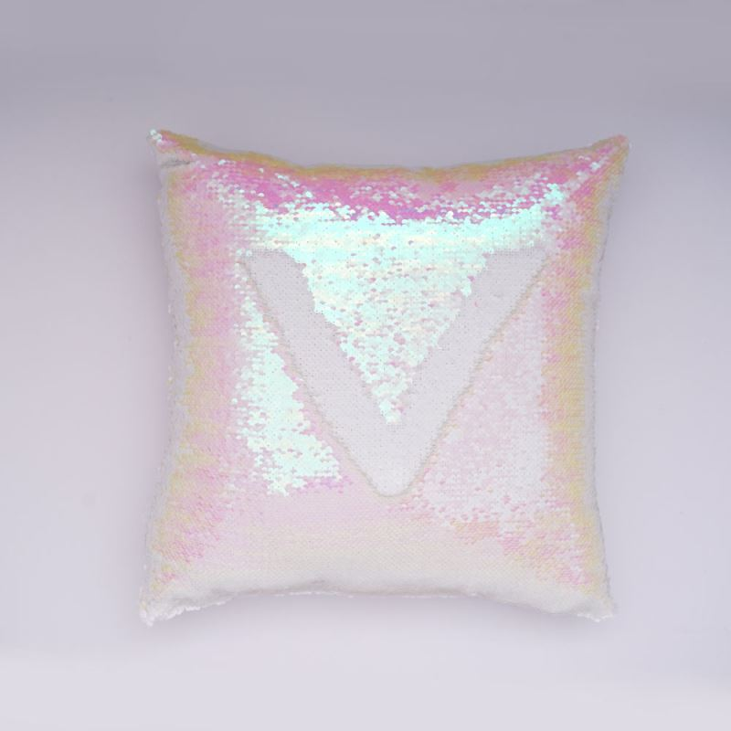Mermaid Pillow Cover Champagne White Change Color Sequins