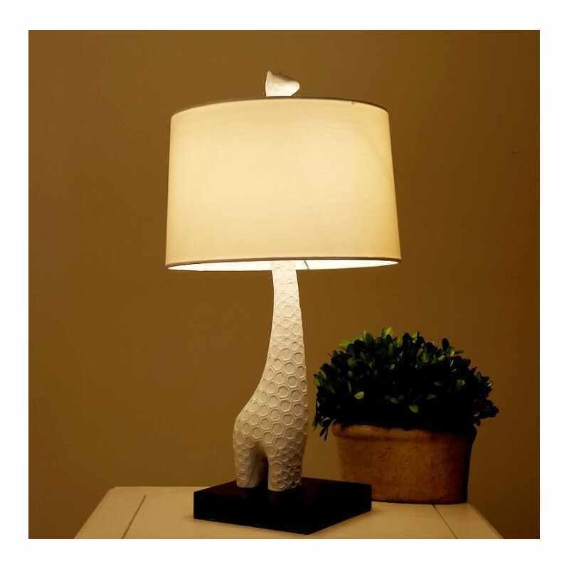 ... Giraffe Table Lamp By Designer Lighting In White Living Room Bedroom  Lamp Img_2 ...