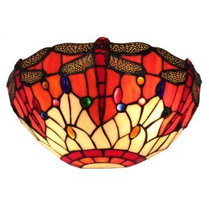 12inch European Pastoral Retro Style Wall Light Dragonfly Pattern Shade Bedroom Living Room Dining Room Kitchen Lights