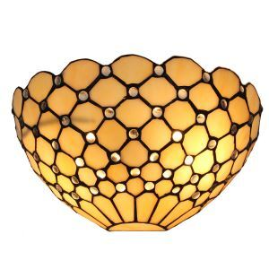 12inch European Pastoral Retro Style Wall Light Crystal Beads Grid Shade Bedroom Living Room Dining Room Kitchen Lights