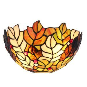 12inch European Pastoral Retro Style Wall Light Colorful Seaweed Pattern Shade Bedroom Living Room Dining Room Kitchen Lights