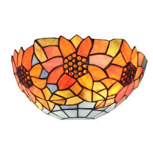 12inch European Pastoral Retro Style Sconce Sunflower Pattern Shade Bedroom Living Room Dining Room Kitchen Lights