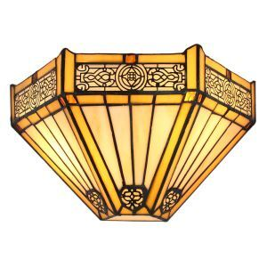 12inch European Pastoral Retro Style Wall Light Colorful Pattern Shade Bedroom Living Room Dining Room Kitchen Lights