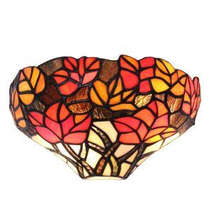 12inch European Pastoral Retro Style Wall Light Colorful Leaves Shade Bedroom Living Room Dining Room Kitchen Lights