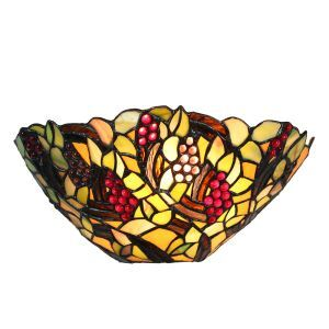 12inch European Pastoral Retro Style Wall Light Grapes Pattern Shade Bedroom Living Room Dining Room Kitchen Lights