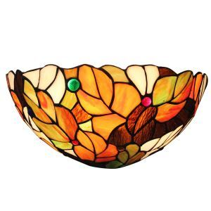 12inch European Pastoral Retro Style Wall Light Colorful Leaves Pattern Shade Bedroom Living Room Dining Room Kitchen Lights