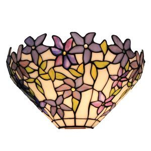 12inch European Pastoral Retro Style Wall Light Violet Pattern Shade Bedroom Living Room Dining Room Kitchen Lights