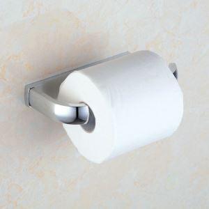 Modern Contemporary Chrome Finish Brass Toilet Roll Holder
