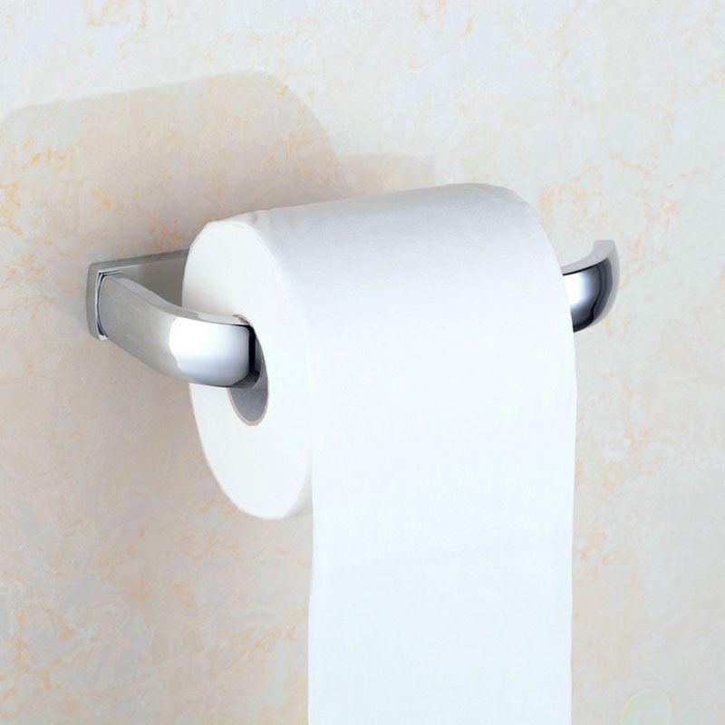 Modern Toilet Roll Holder Contemporary Chrome Finish Brass