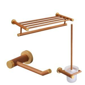 European Simple Style Bathroom Products Bathroom Sets Towel Rack Toilet Roll Holders Toilet Brush Holder